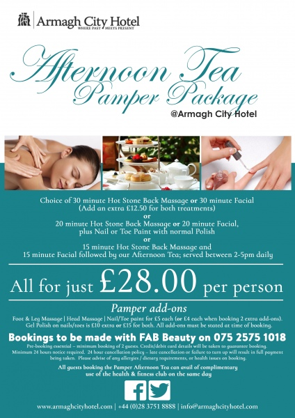 Afternoon Tea Pamper Package